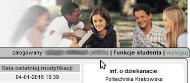 NIU w Wirtualnym Dziekanacie